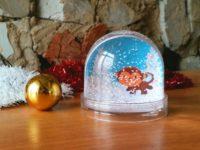 снежный шар с фото