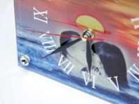 Прямоугольные стеклянные часы с фото