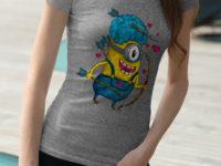 принты на футболках для девушек