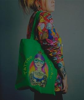 Хлопковые сумки с принтами доступны для заказа